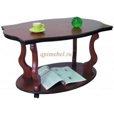 Журнальный стол Берже 3 на колесах коричневый