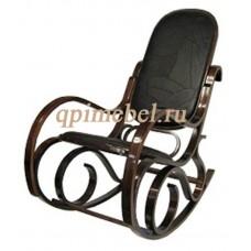 Кресло-качалка из натуральной кожи на деревянном каркасе 20048WCL