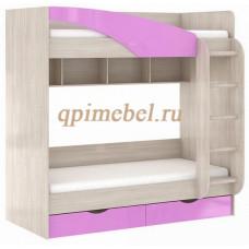 Кровать двухъярусная Роман с ящиками и лестницей